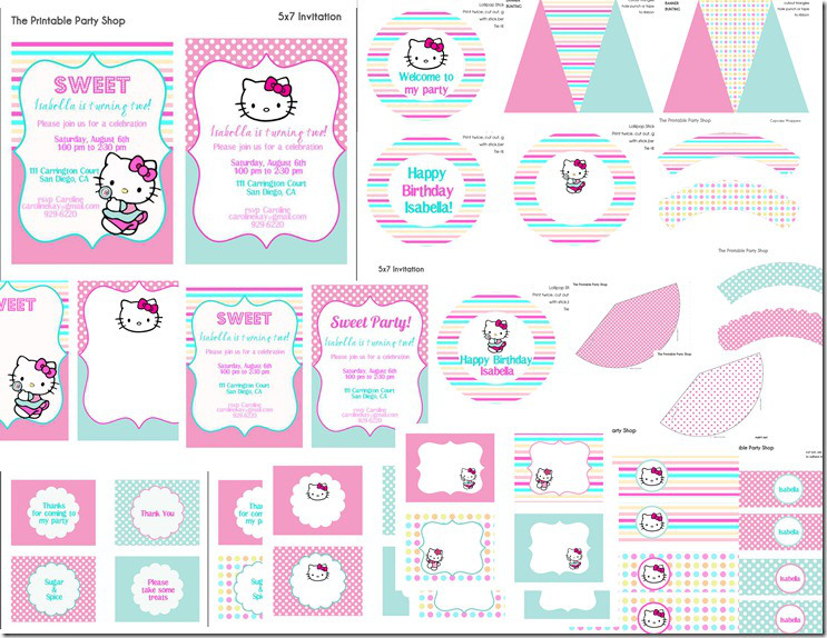 Hello Kitty Party Printables Ideas And Inspiration