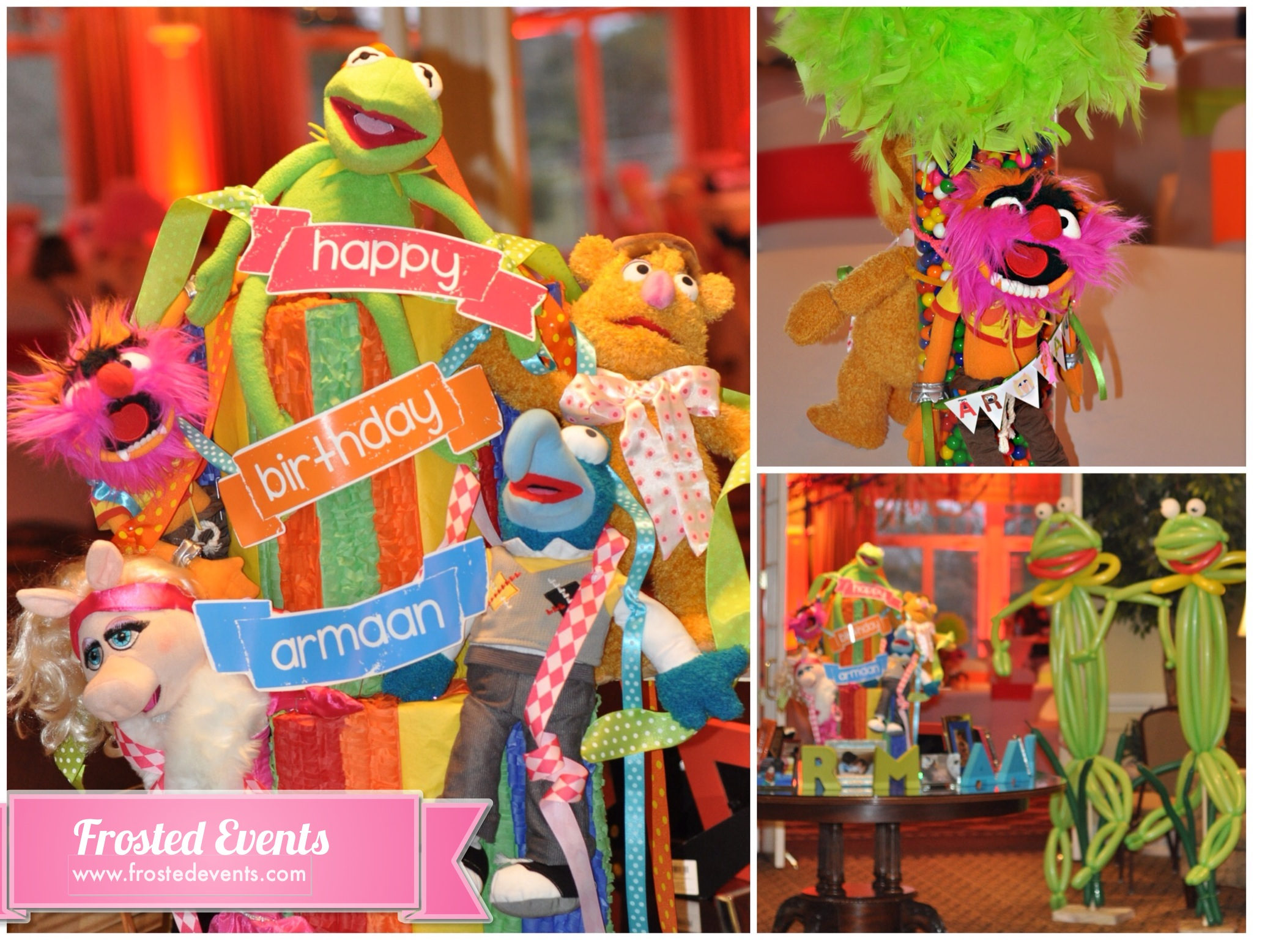 Muppet Theme First Birthday by Frosted Events www.frostedvents.com