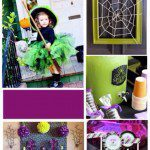 Halloween in Purple & Green