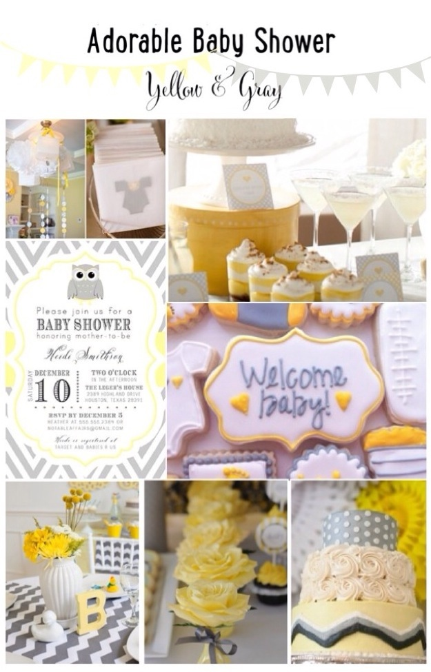 yellow and gray baby shower ideas car tuning