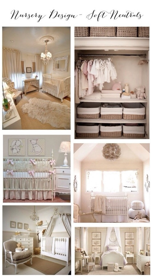 Nursery Design- Soft Neutrals Inspiration Board www.frostedevents.com