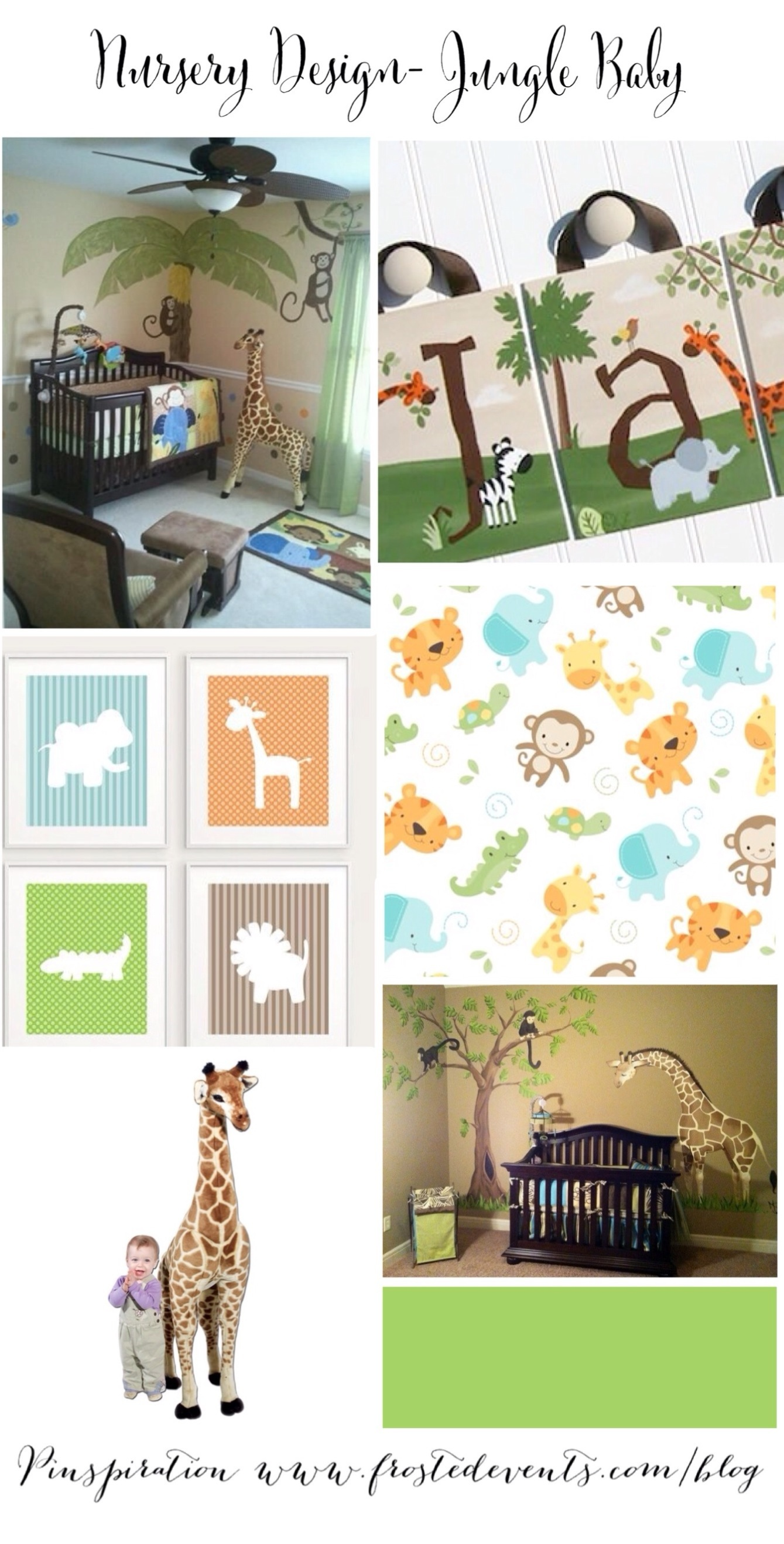 Nursery Design Jungle Baby www.frostedevents.com Ideas & Inspiration