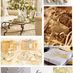 Holiday Decor- Gold & Sparkle Christmas www.frostedevents.com