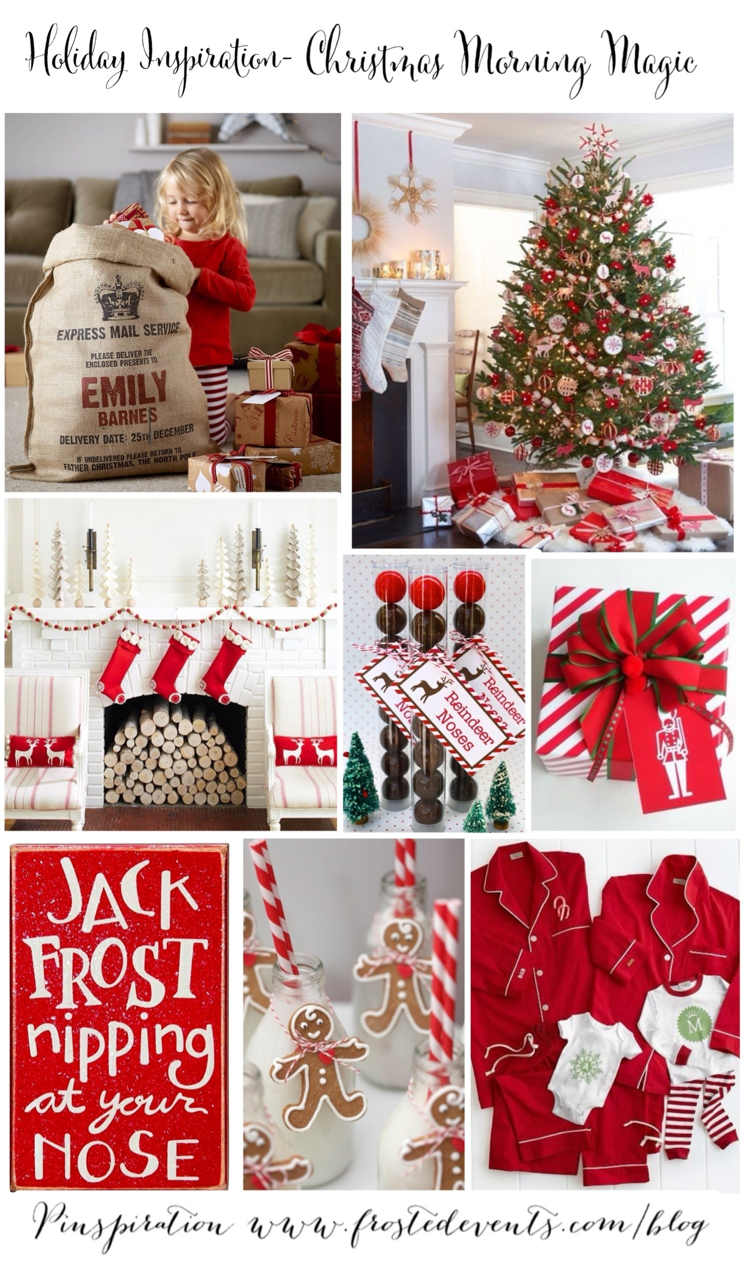 Ideas for Christmas - Christmas Morning Magic- www.frostedevents.com Christmas Ideas & Inspiration