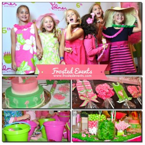 Lilly Pullitzer Theme Party www.frostedevents.com Girls Birthday Party Ideas