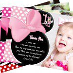 Minnie Mouse Pink Polka Dot Photo Invitation www.frostedevents.com