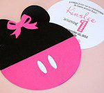 Pink Minnie Mouse Invitations www.frostedevents.com