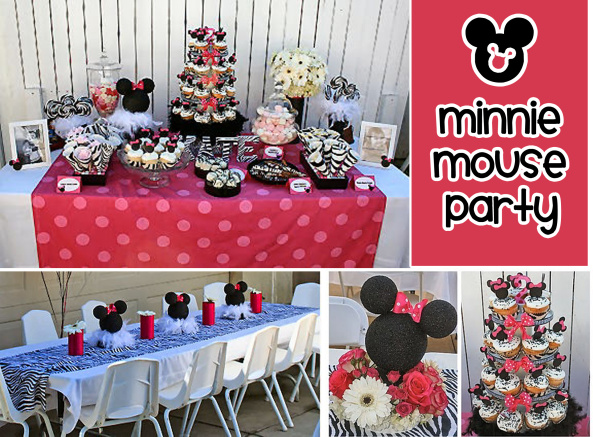 Minnie Mouse Theme Party Ideas & Inspiration www.frostedevents.com