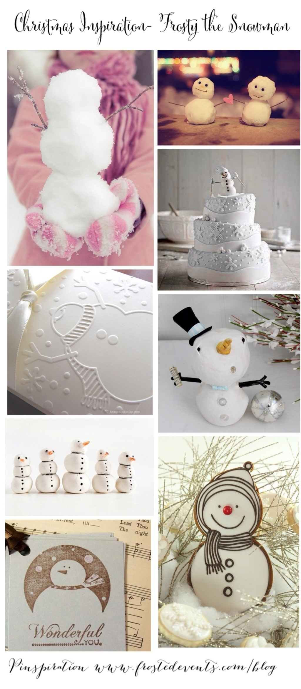 Christmas Inspiration- Frosty the Snowman www.frostedevents.com Holiday Ideas