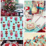 Christmas Inspiration- Red & Turquoise Blue