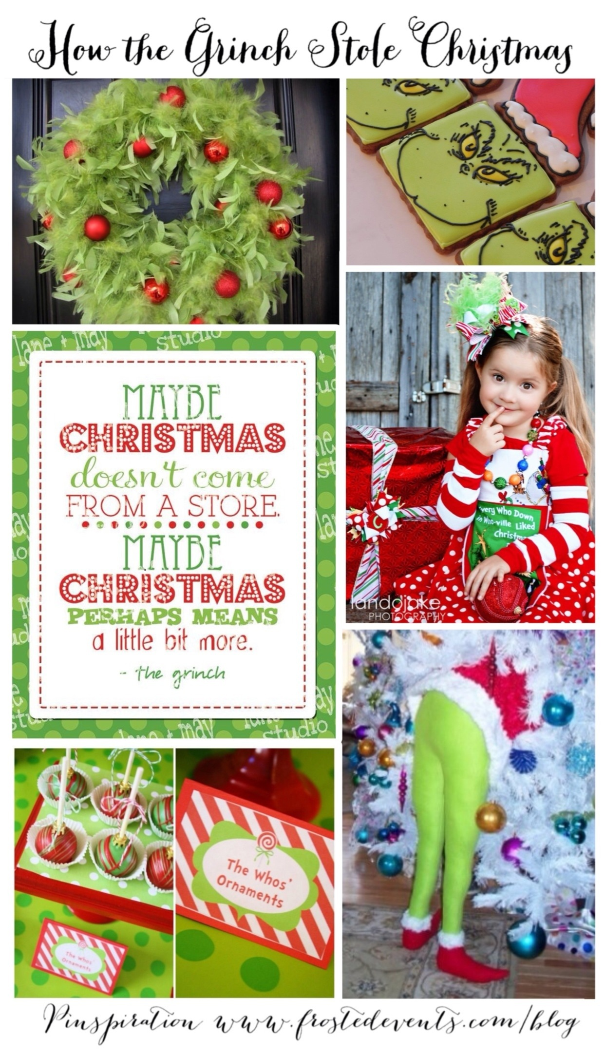 The Grinch- How the Grinch Stole Christmas - inspired by the Grinch movie 2018, Christmas party ideas via Misty Nelson frostedblog.com @frostedevents #theGrinch #theGrinchmovie