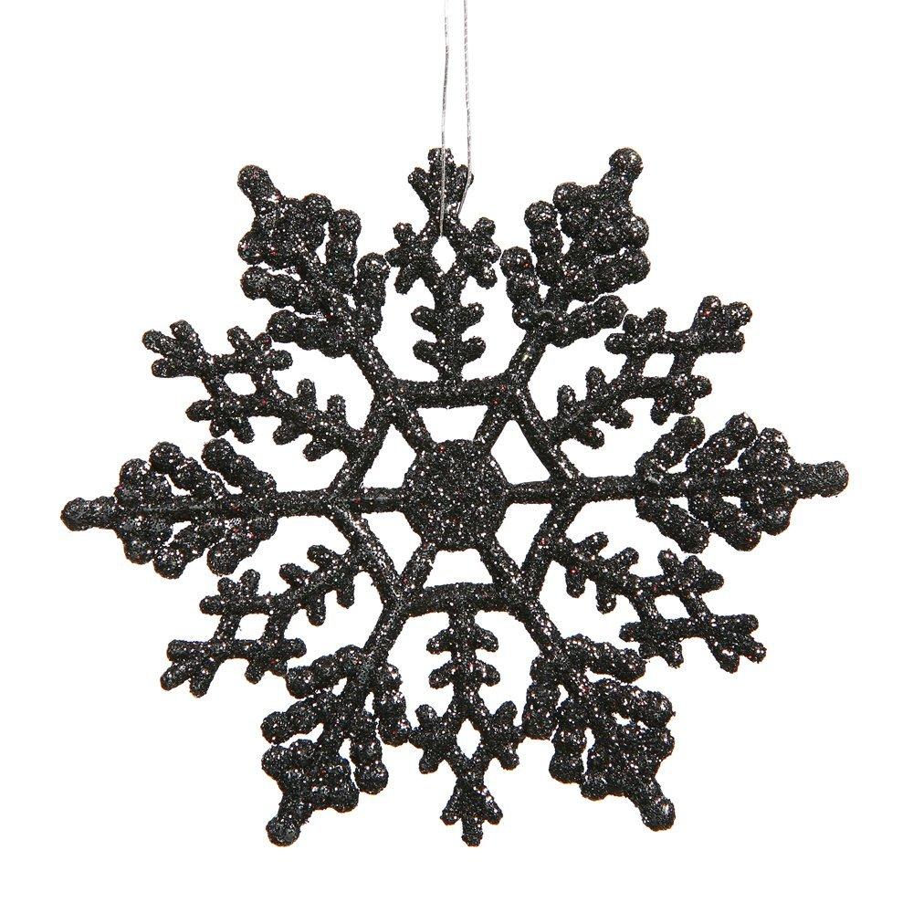 Black Snowflake Ornaments