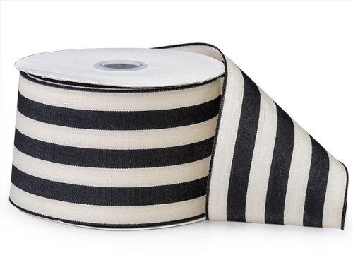 Black and White Stripe Ribbon