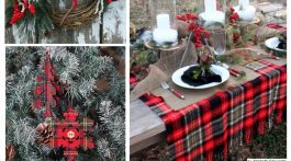 Holiday Inspiration Christmas Tartan Plaid Red Decorations and Ideas via Misty Nelson frostedblog.com @frostedevents style blogger, influencer and creative mom