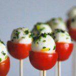 Mozzarella Caprese Pops- Party Food