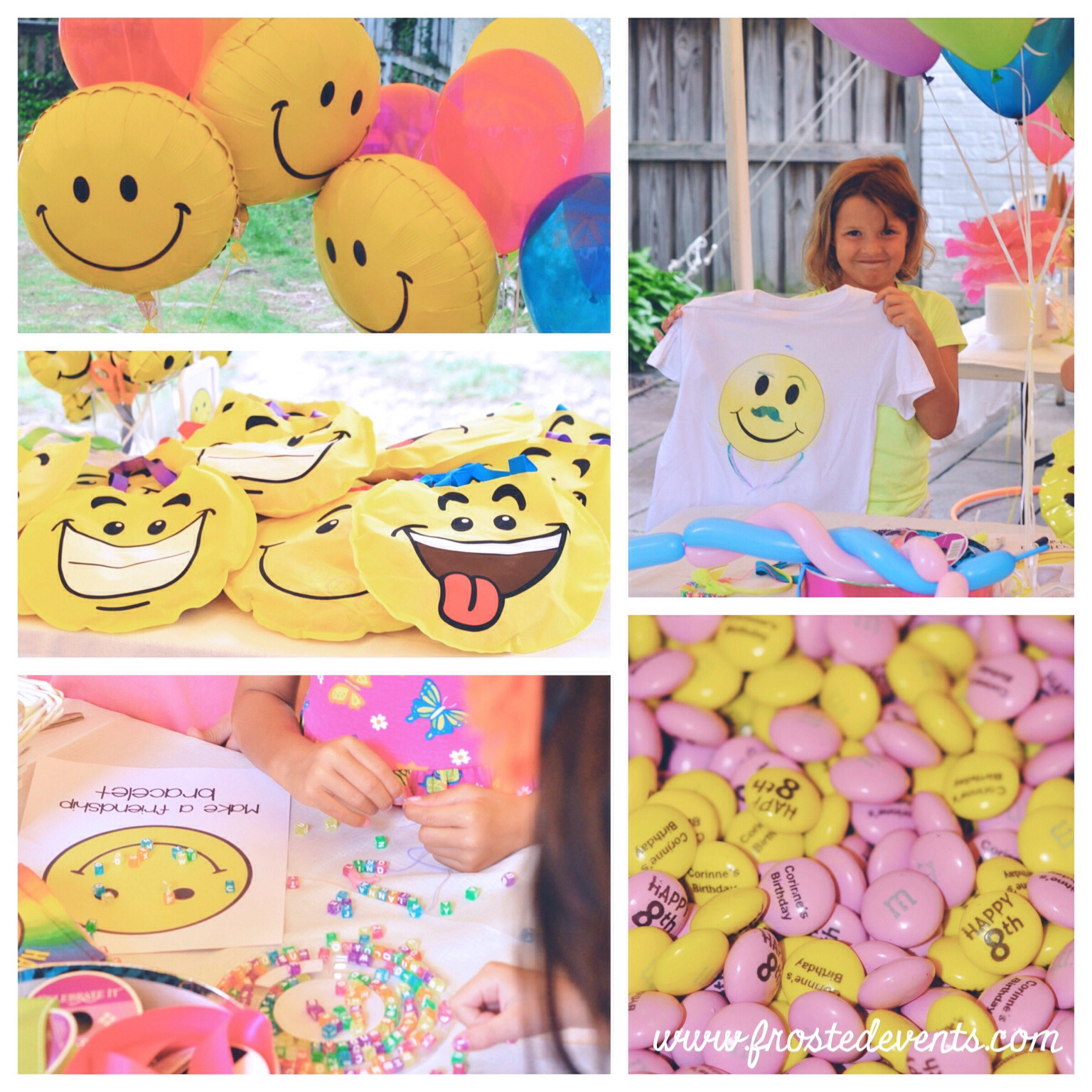 Emoji Party Ideas -Happy Face Smile! Birthday Party Frosted Events www.frostedevents.com