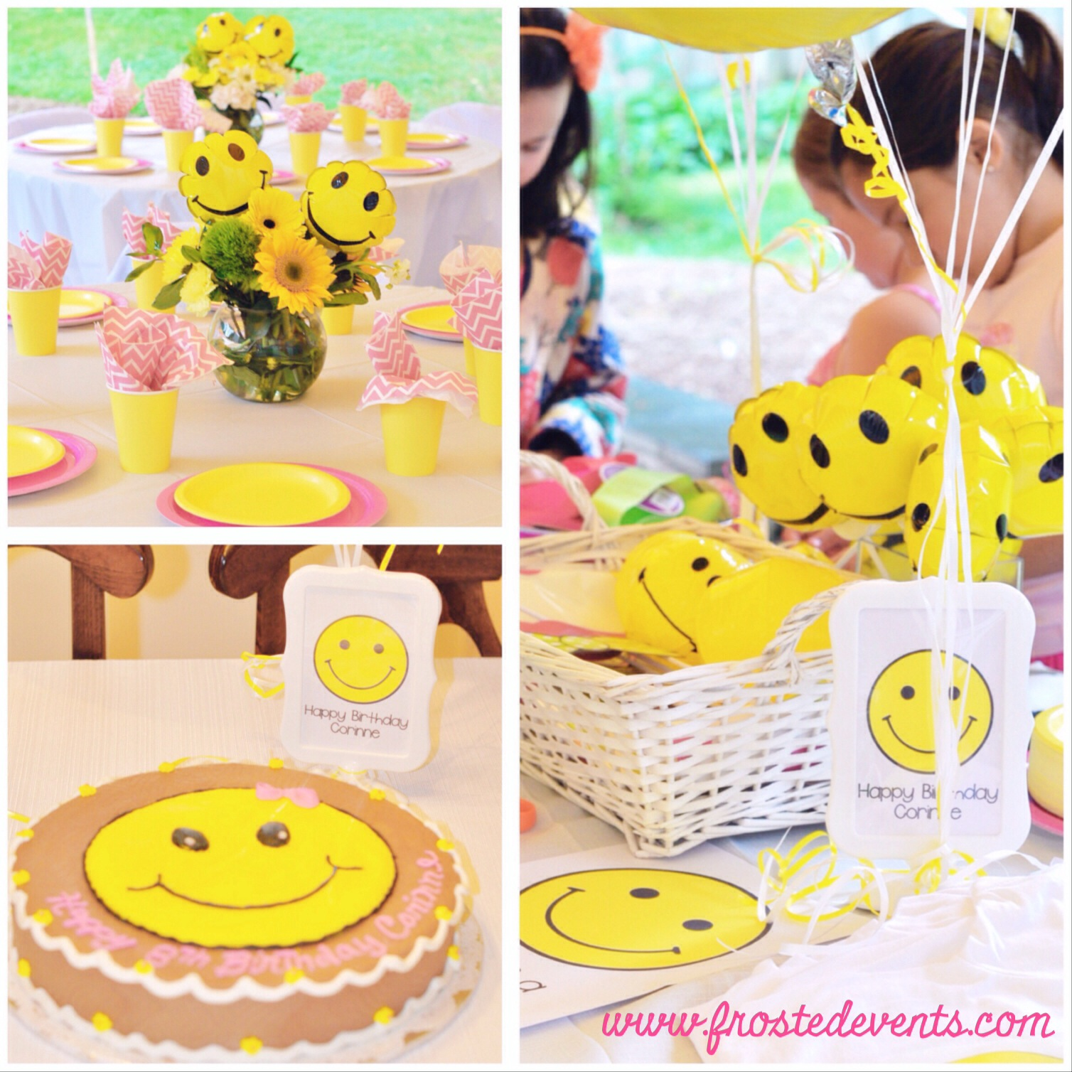 Happy Face Smile! Theme Birthday Party- Frosted Events www.frostedevents.com