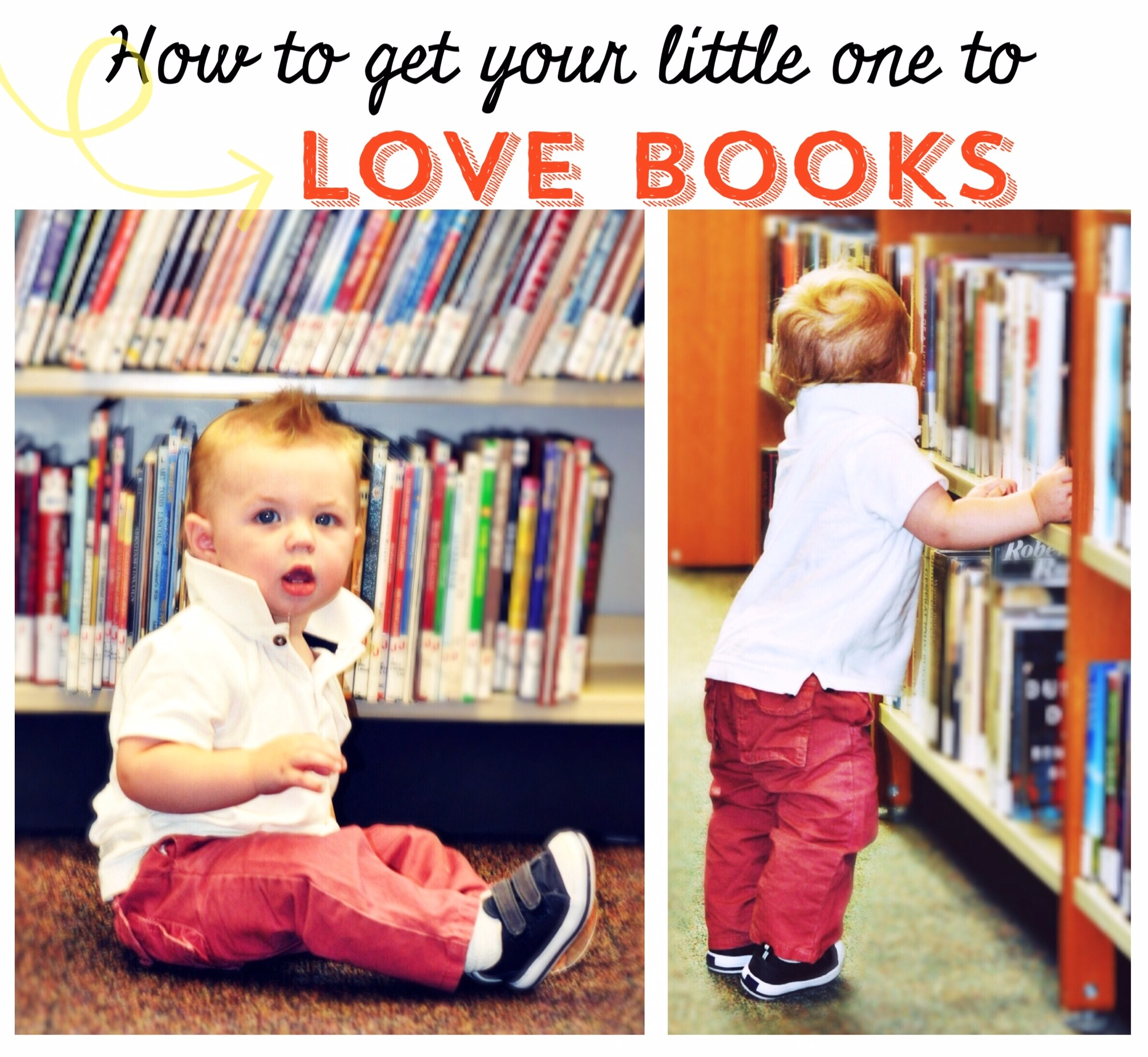 How To Get Your Baby / Toddler to Love Books Reading www.frostedevents.com
