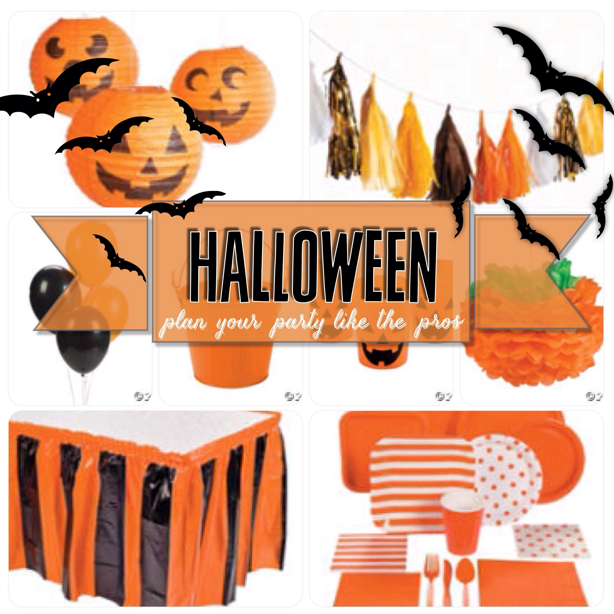Halloween Party- Plan Your Party Like the Pros Jack-O-Lantern Orange Black Pumpkin