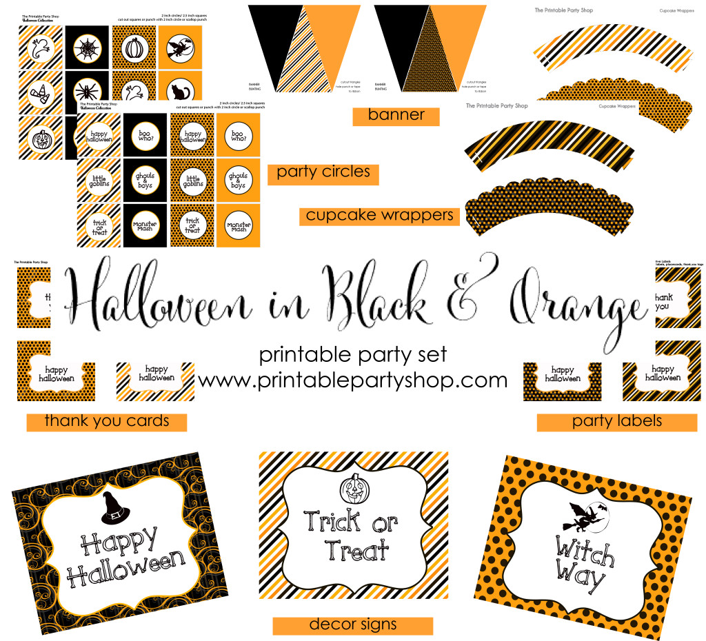 Halloween Free Printables Download This Party Set www.frostedevents.com