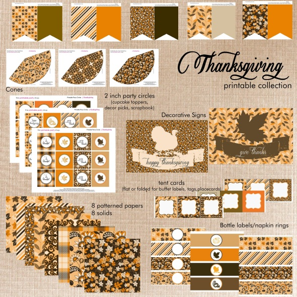 picture relating to Happy Thanksgiving Signs Printable identified as Absolutely free Thanksgiving Printables