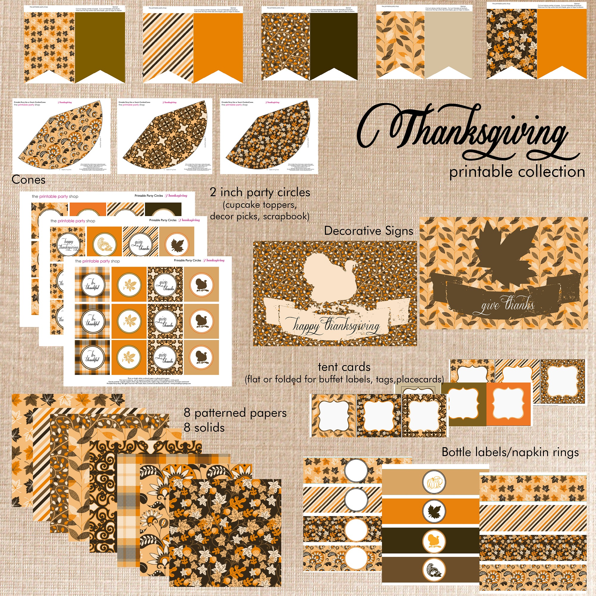 It is an image of Happy Thanksgiving Signs Printable within fall
