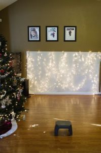 How to Create Christmas Light Backdrop