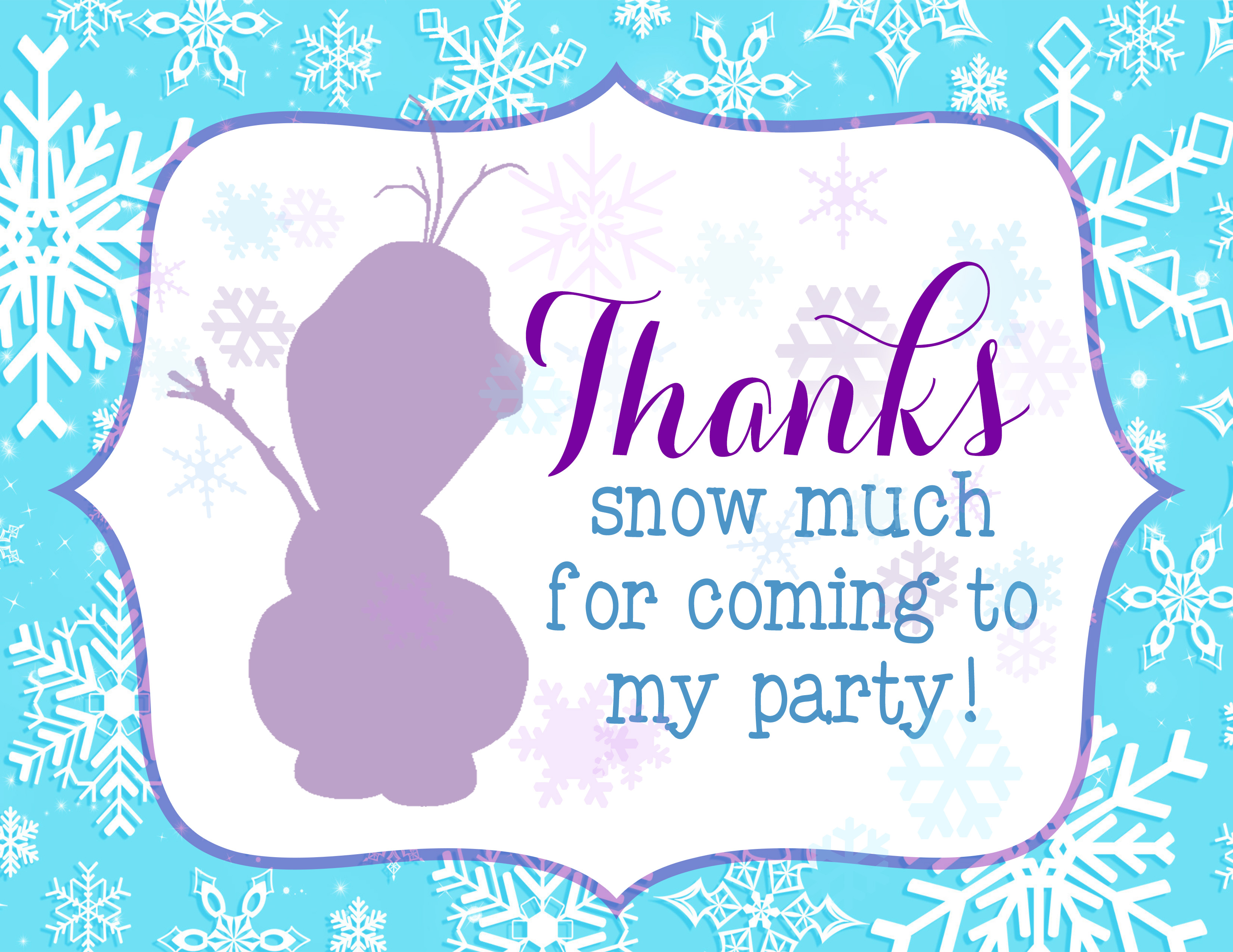 photo about Free Frozen Printable named Amazing Frozen Concept Social gathering With Frozen Bash Printables
