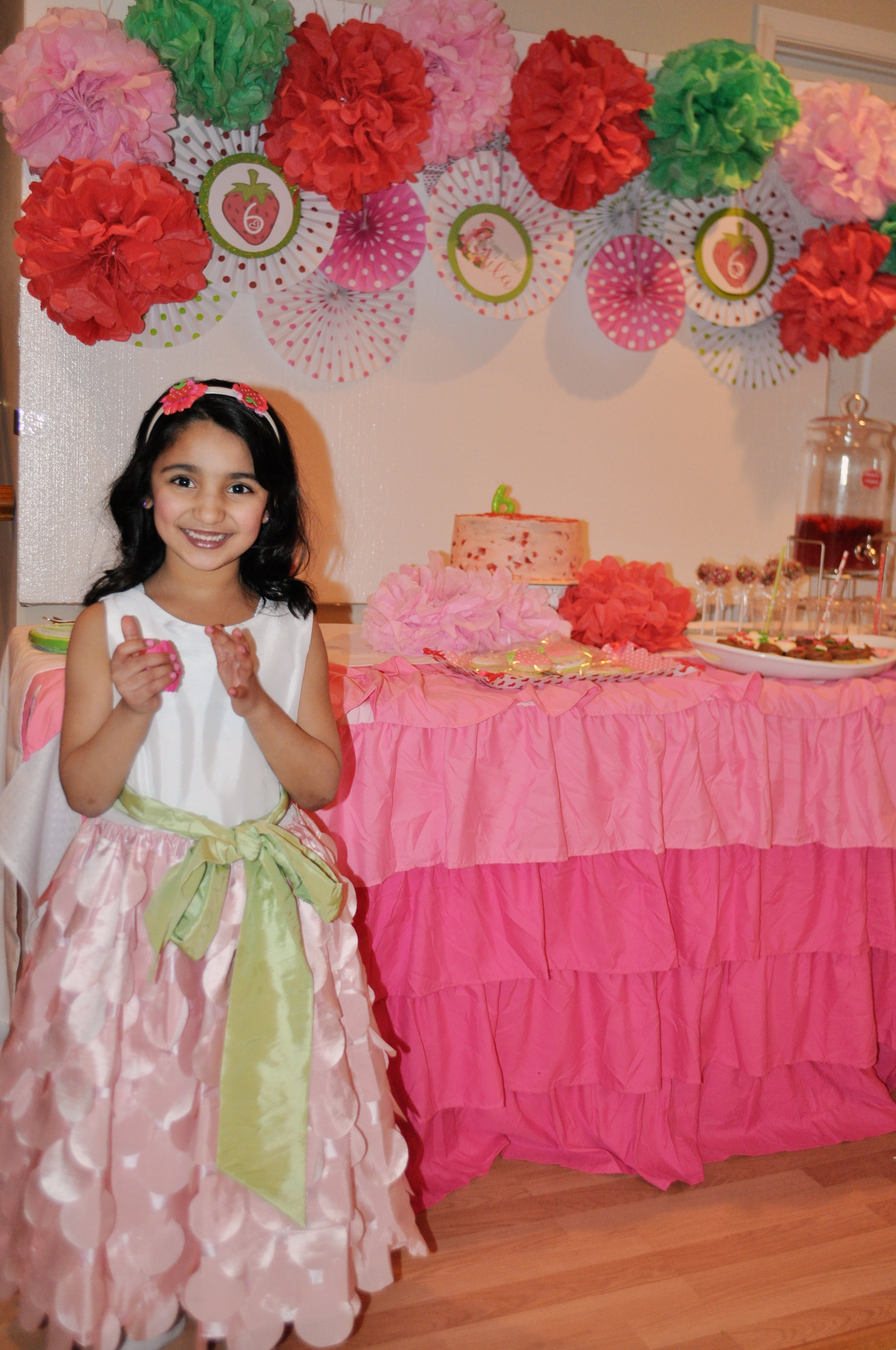 Strawberry Shortcake Party by Frosted Events frostedevents.com Girls Birthday Party Ideas and Inspiration