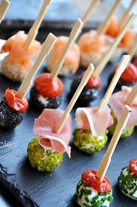Mini Bites + Party Food Recipes Goat Cheese Skewers- Party Food Recipes and Mini Bites, Best Party Appetizers @frostedevents