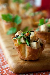 Mini Bites + Party Food Recipes Sesame-Chicken-Wontons- Party Food Recipes and Mini Bites, Best Party Appetizers @frostedevents