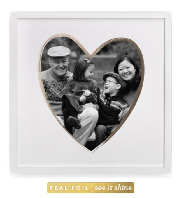 Minted Artwork Foil Heart Shape Photo Art minted.com