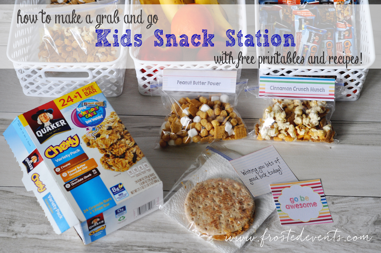 Quaker Oats Easy Snack Station for Kids Lunches- Back to School #QuakerTime #Ad