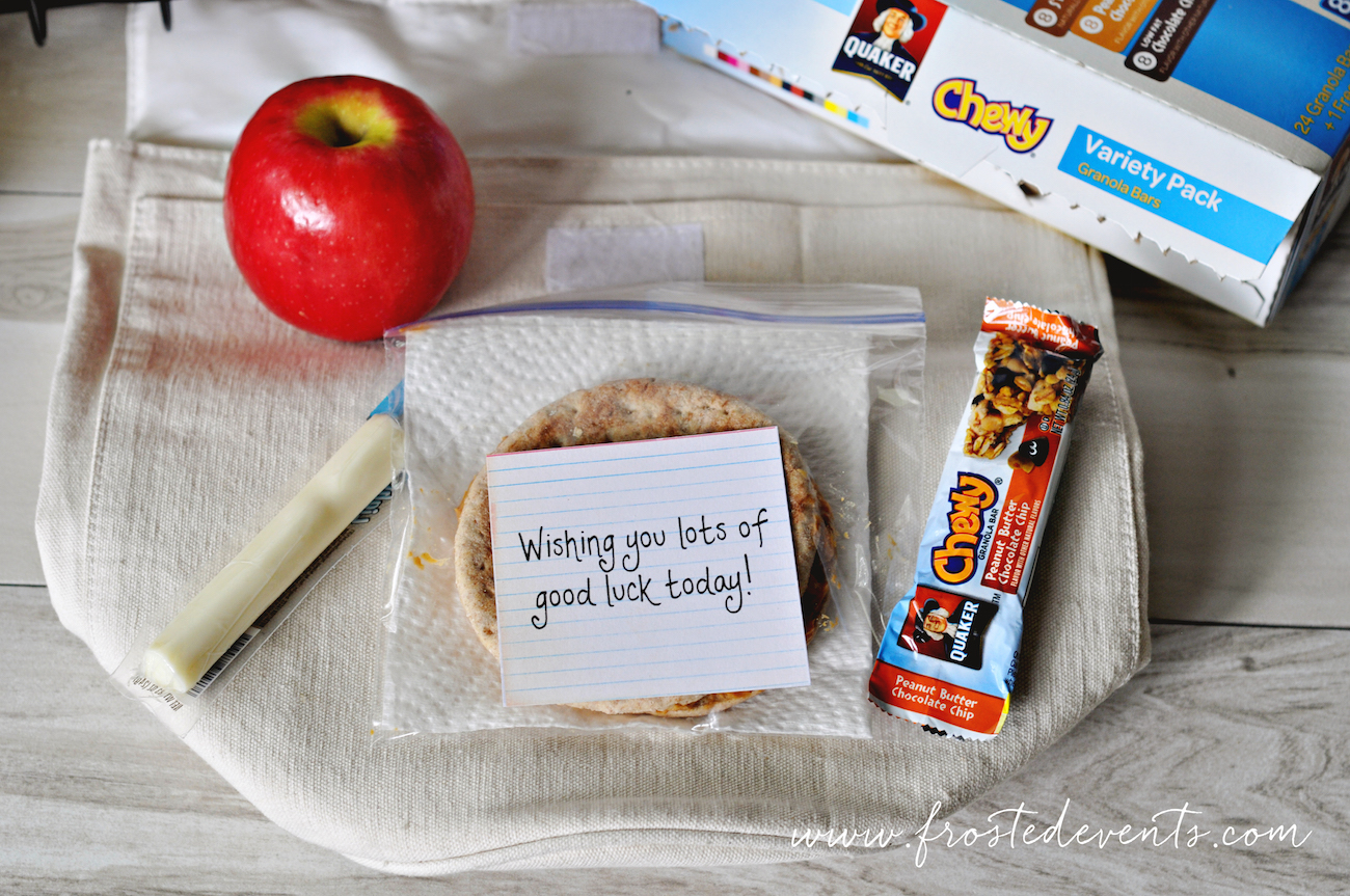 Easy Snack Station for Kids Lunches- Back to School #QuakerTime #Ad