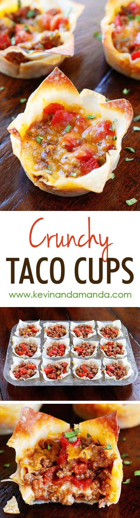 Pinterest Recipes- Weekly Meal Plan - Crunchy Taco Cups frostedeventscom