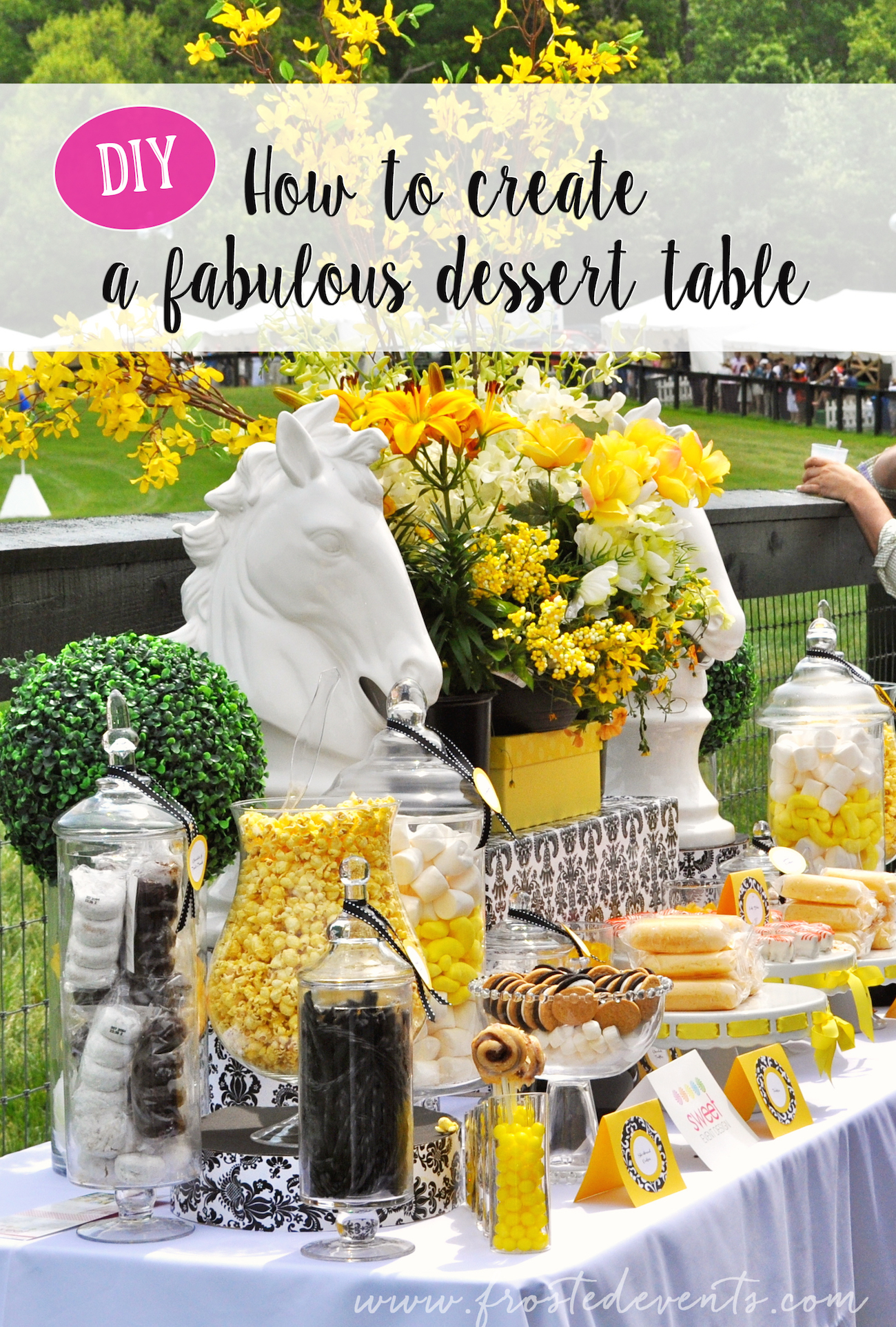 Dessert Table Candy Buffet Wedding Ideas Inspiration Horse Derby Theme frostedevents #desserttable #candybuffet #wedding