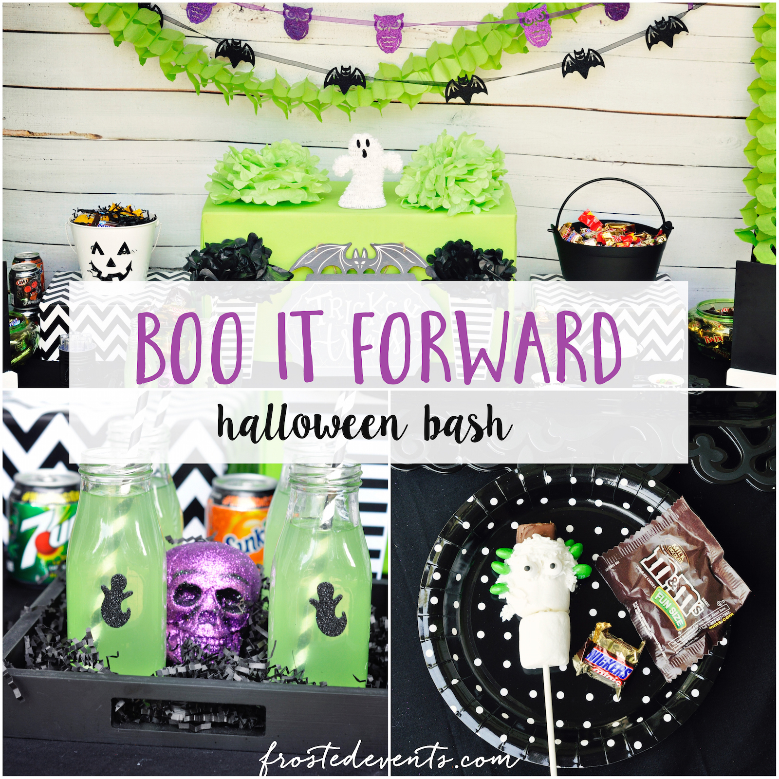 BOO It Kit + Halloween Bash Halloween Party Ideas and Printables Mars Halloween Candy