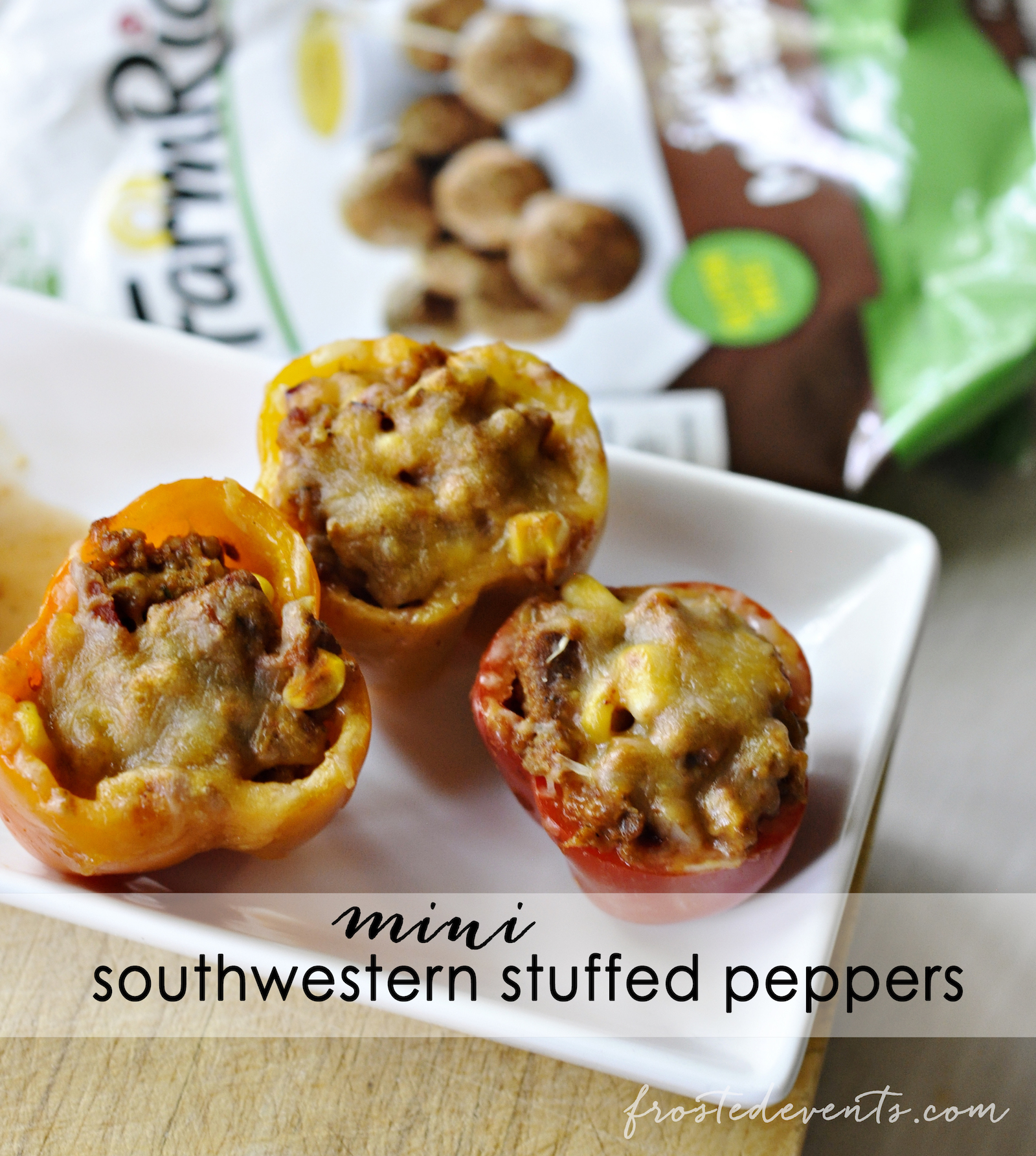 Party Recipes- Mini Southwestern Stuffed Peppers Recipe - Perfect Football Party Food, Appetizer or Snack Idea #recipe