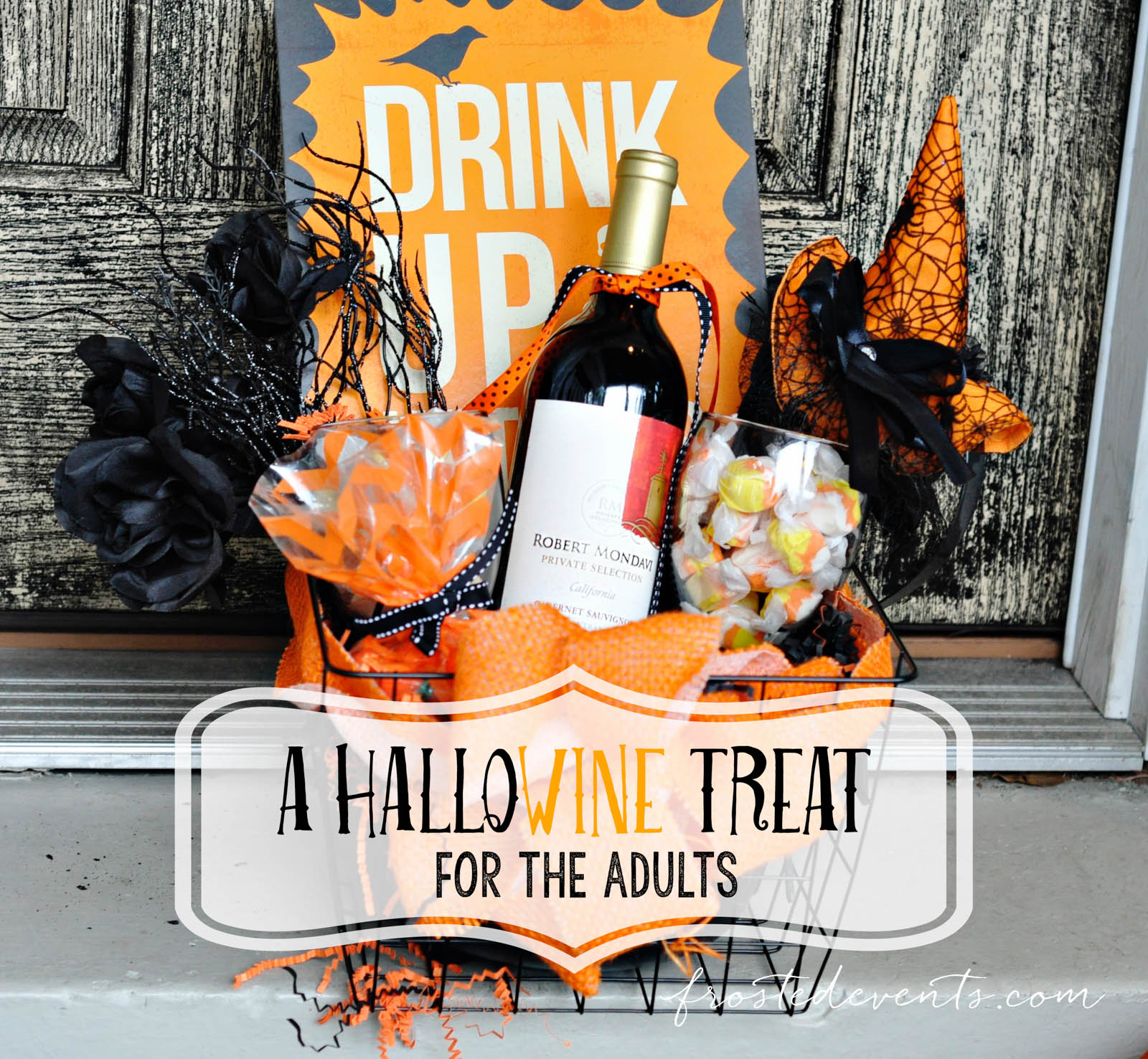 Halloween Gift Basket Ideas For Adults.Diy Hallowine Treat For Moms You Ve Been Booed