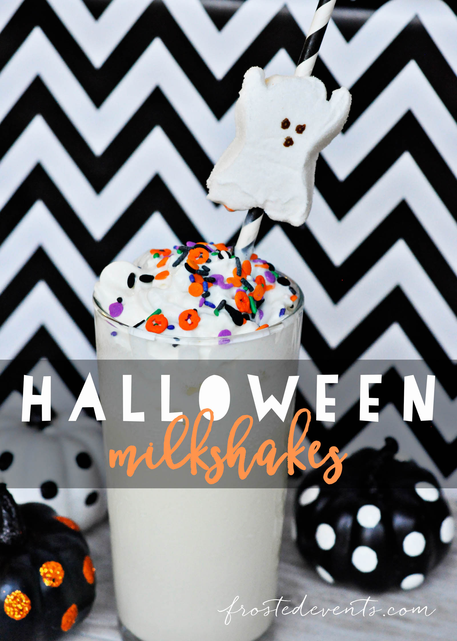 Halloween Drink Ideas How to Make a Milkshake frostedevents.com