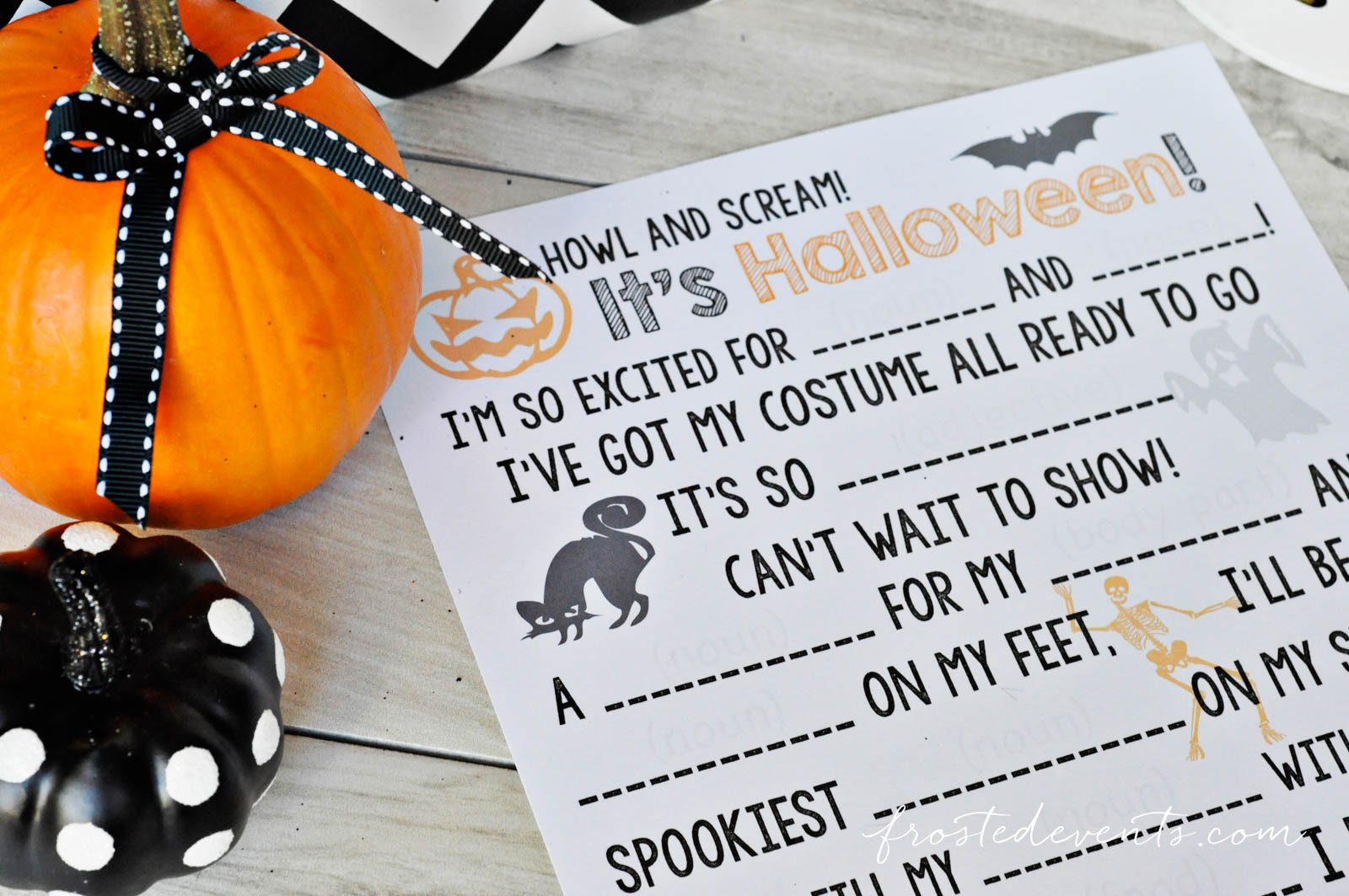Halloween Games for Kids + Pumpkin Cookie Bars Recipe Nestle Tombstone sponsored post by Frosted Events Halloween Ideas Printable Halloween Madlibs #halloween #pumpkinrecipe #halloweengames