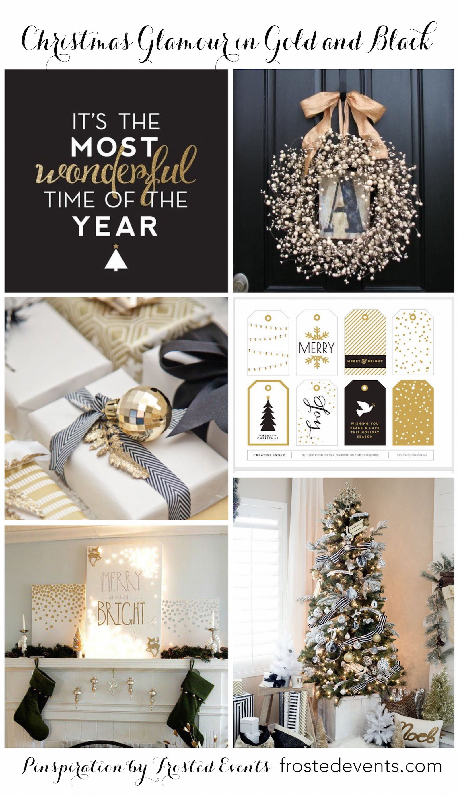 Christmas Decorating Glittering In Black And Gold