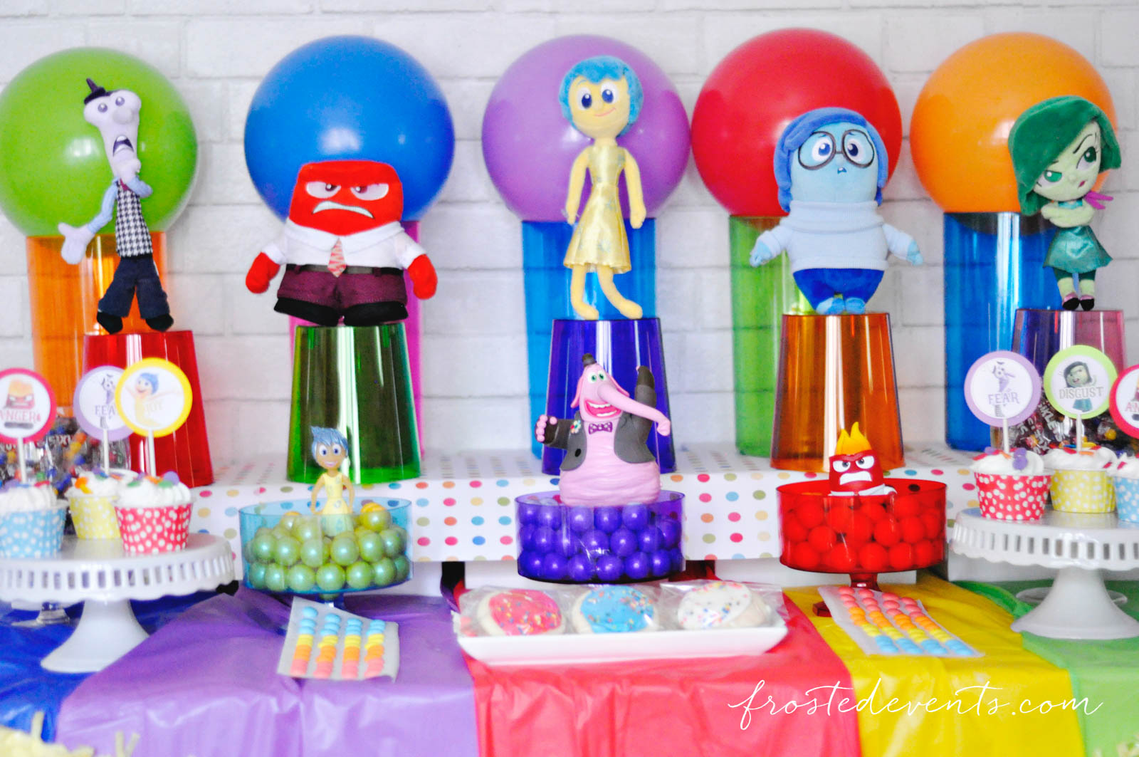Inside Out Party Ideas Disney Movie Party frostedevents.com