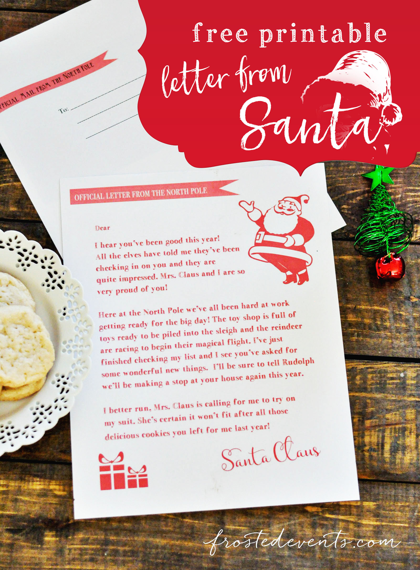 photograph regarding Printable Letters From Santa identified as Letter Towards Santa - Absolutely free Printable