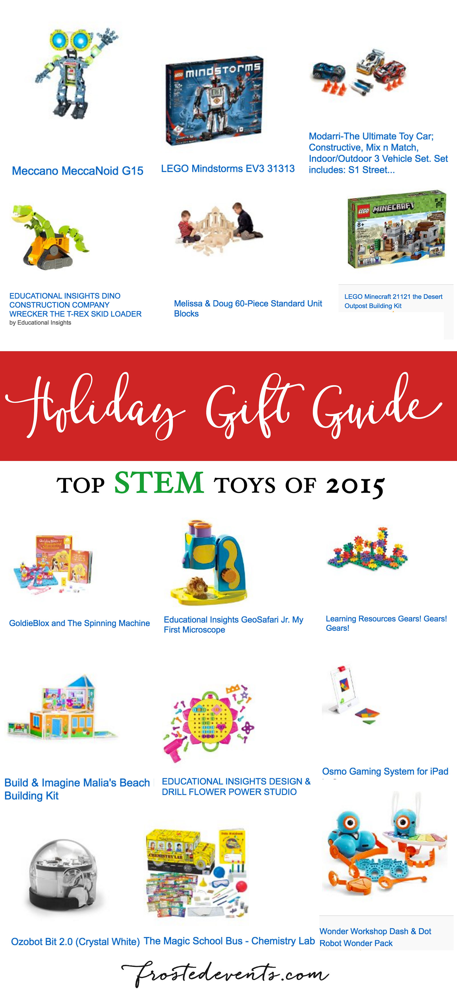 Holiday Gift Guide Top STEM Toys for Christmas Toys for Kids Toy Reviews frostedevents.com