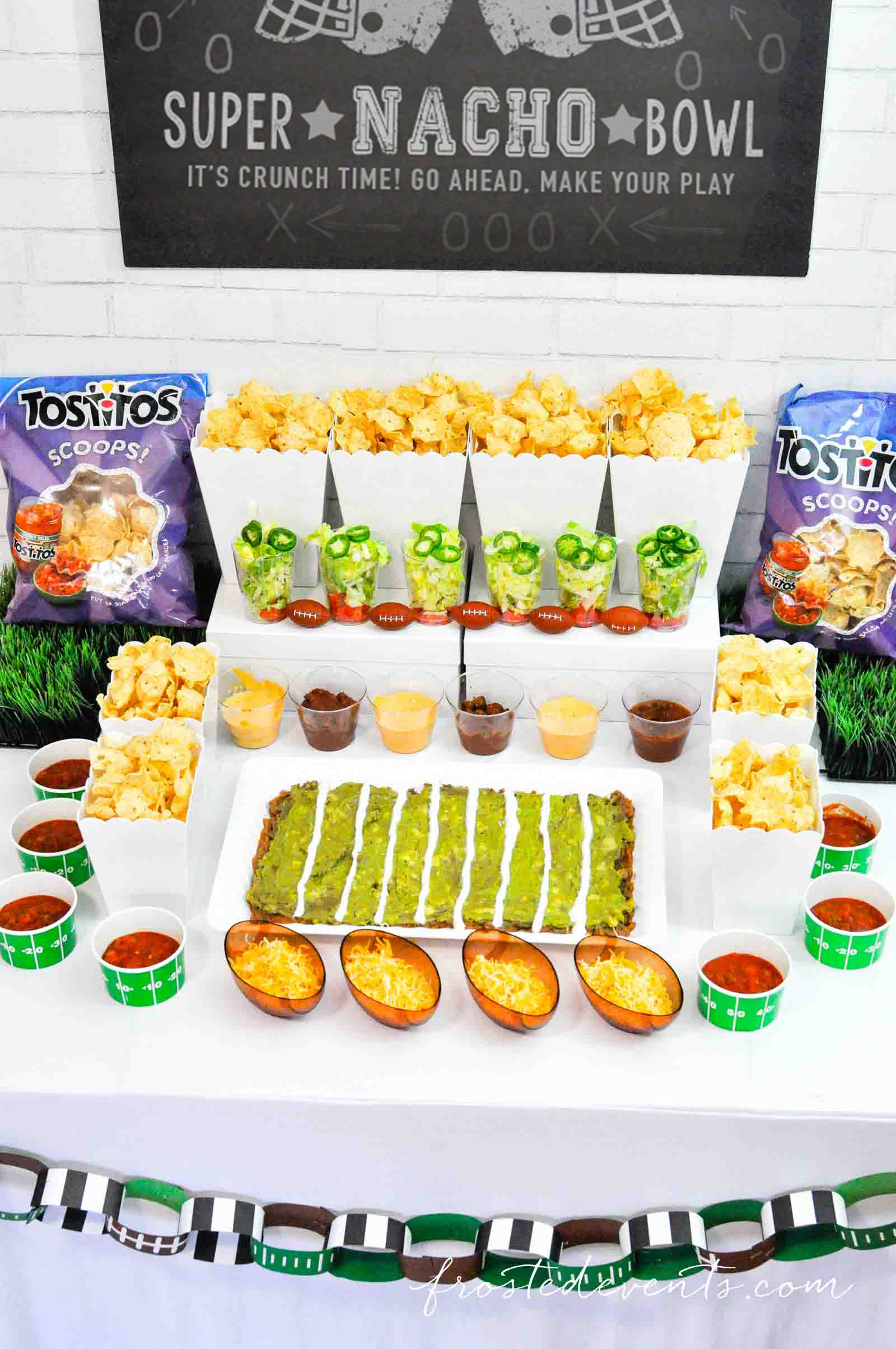 Football Party Ideas - Football party food Super Bowl Nacho Bar with Tostitos Food Ideas