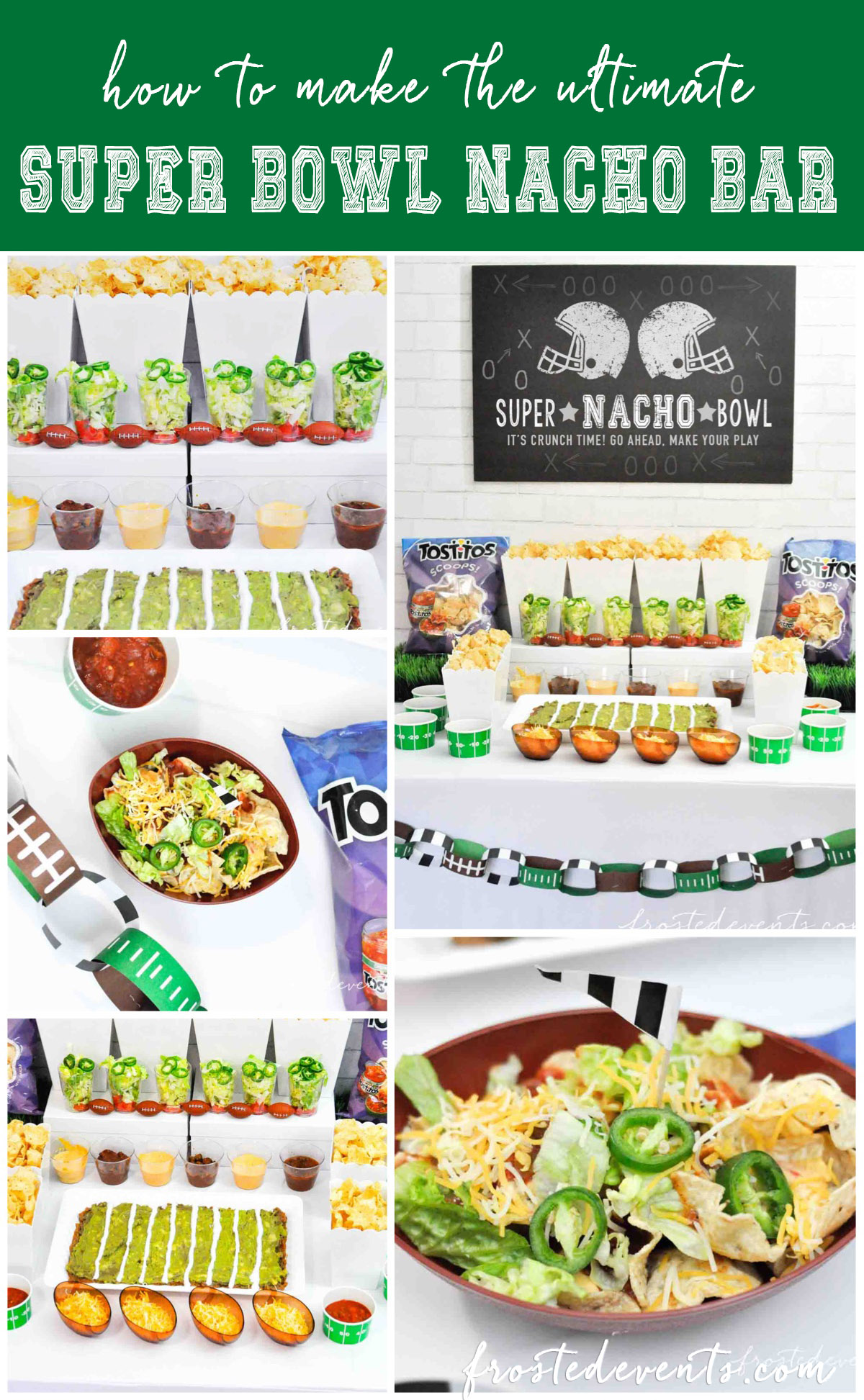 Football Party Ideas Snack Ideas Super Bowl Nacho Bar with Tostitos Food Ideas
