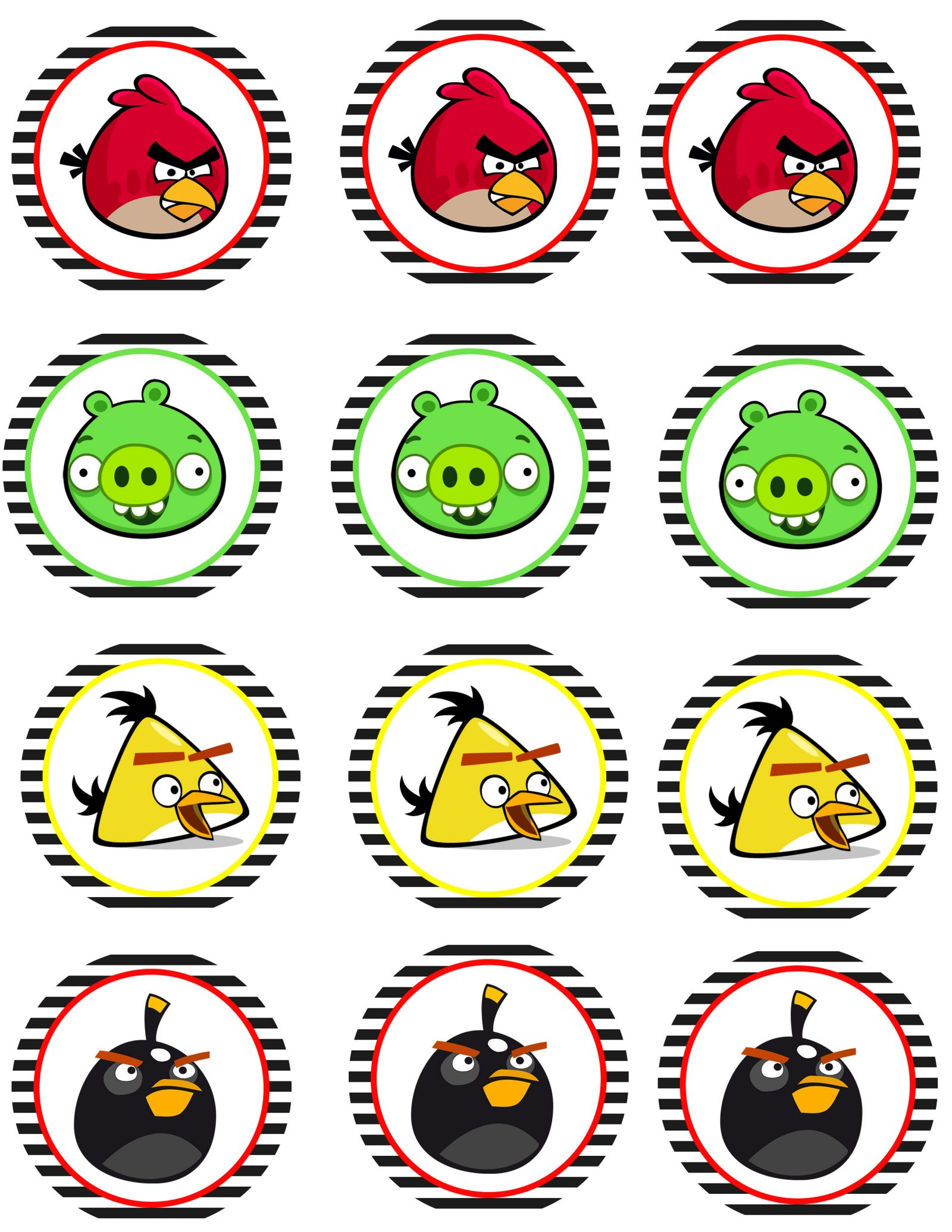photo relating to Angry Birds Printable Faces known as Offended Birds Social gathering No cost Printables