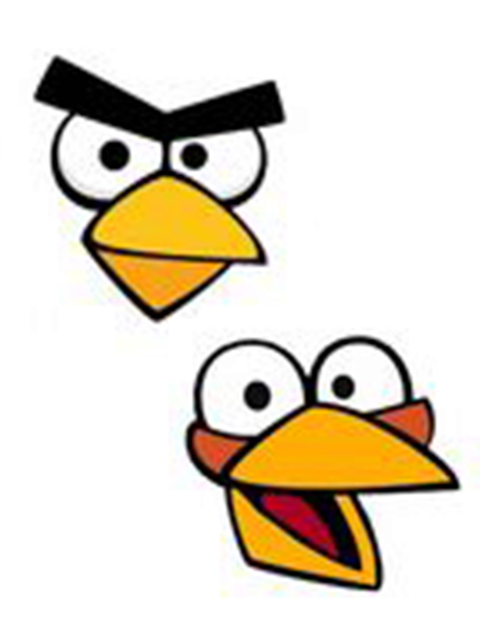 photo about Angry Birds Printable Faces identified as Offended Birds Bash Cost-free Printables