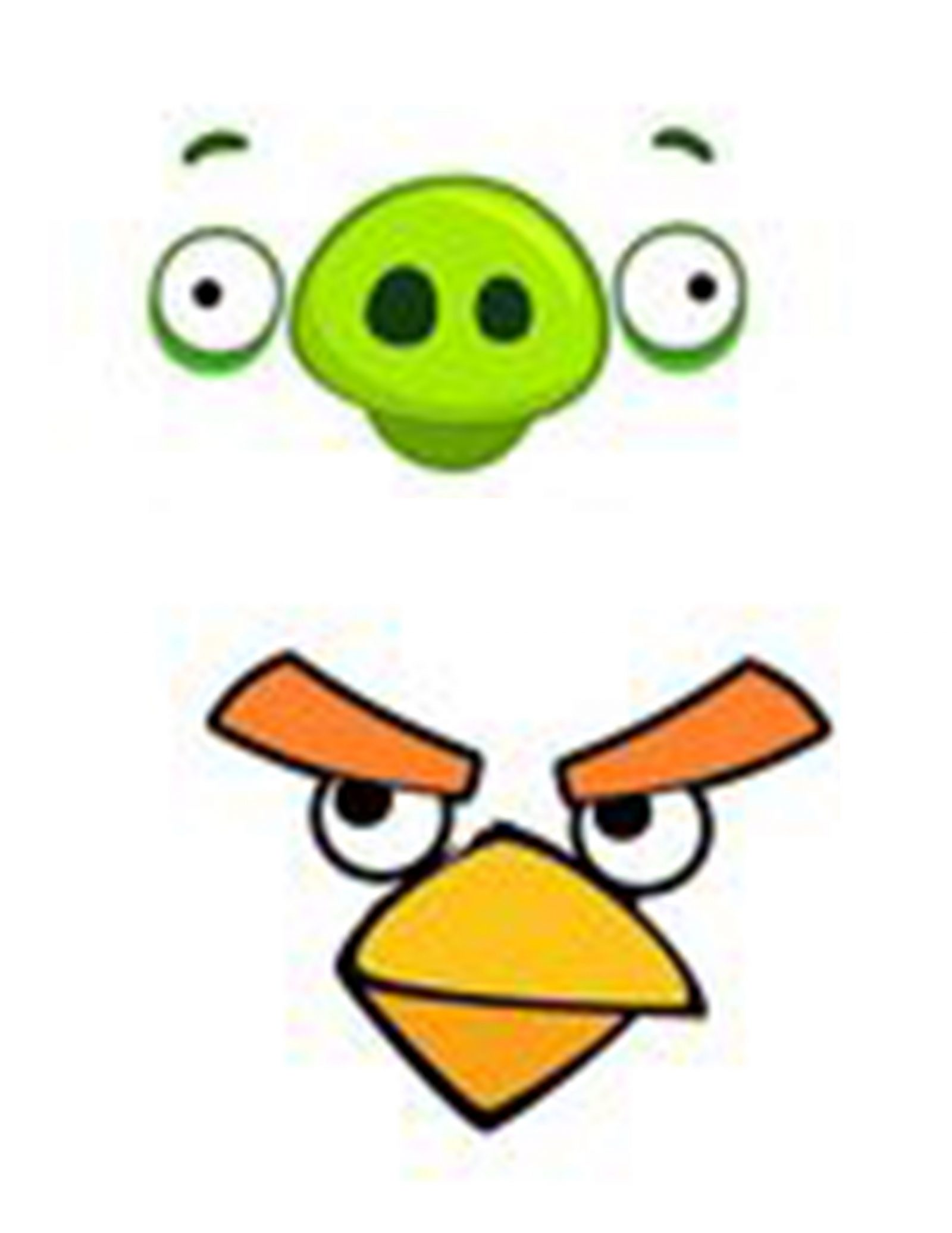 graphic about Angry Birds Printable Faces named Offended Birds Bash Cost-free Printables